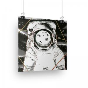 Print Astronauta - Hyna Crimson